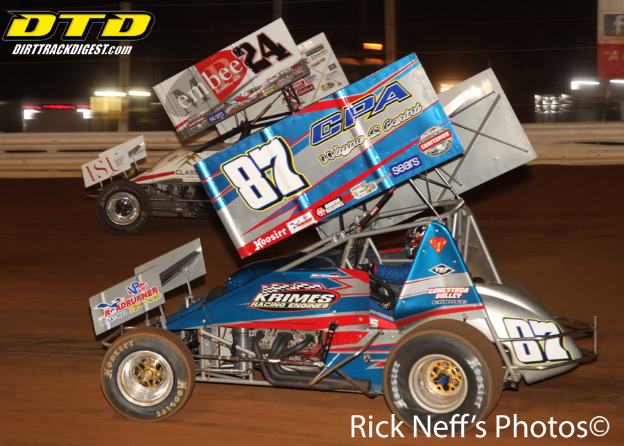 Wolfe Makes Late Race Pass To Win Baps Night Feature At Lincoln